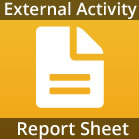 External Activity Report Sheet