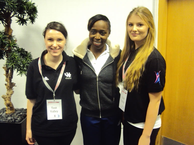 Athlete Mentor Jeanette Kwakye with Erin Philips and Holly Deere