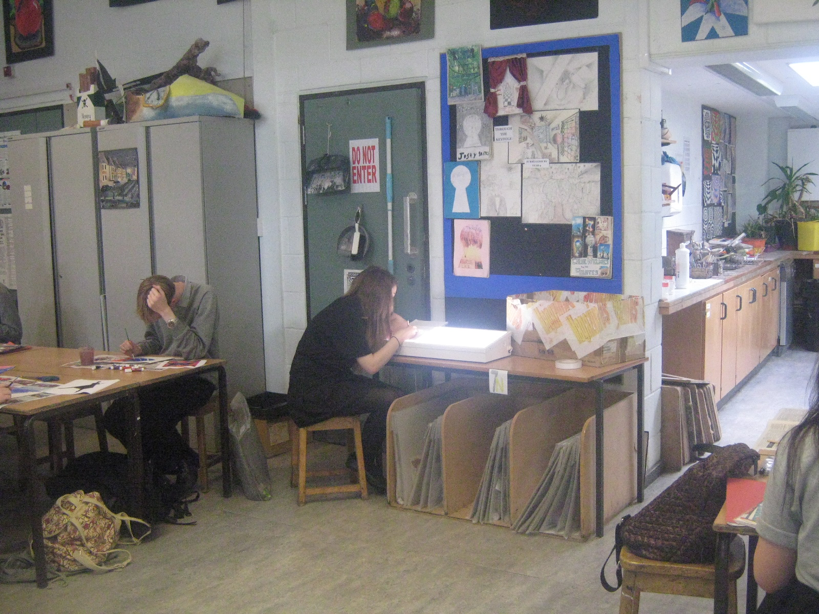 Year 11s Working in the Classroom