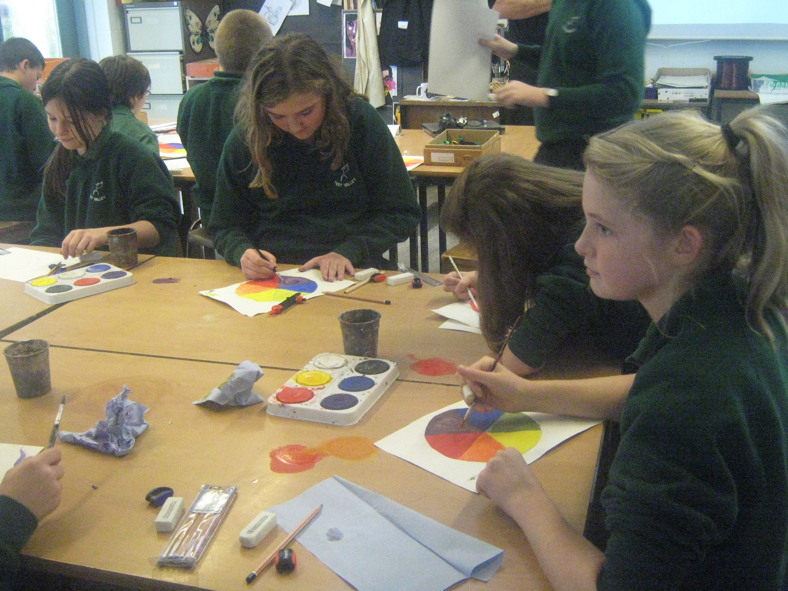 Year 7s and 8s Working in the Classroom