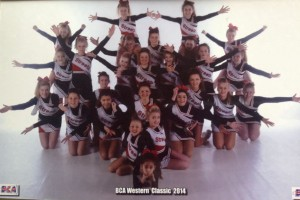 Cheerleading competition. BCA Western Classic