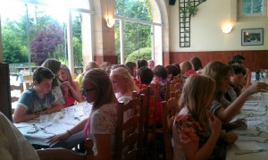 TVS Y7 French Trip Dining at Chateau Baffy