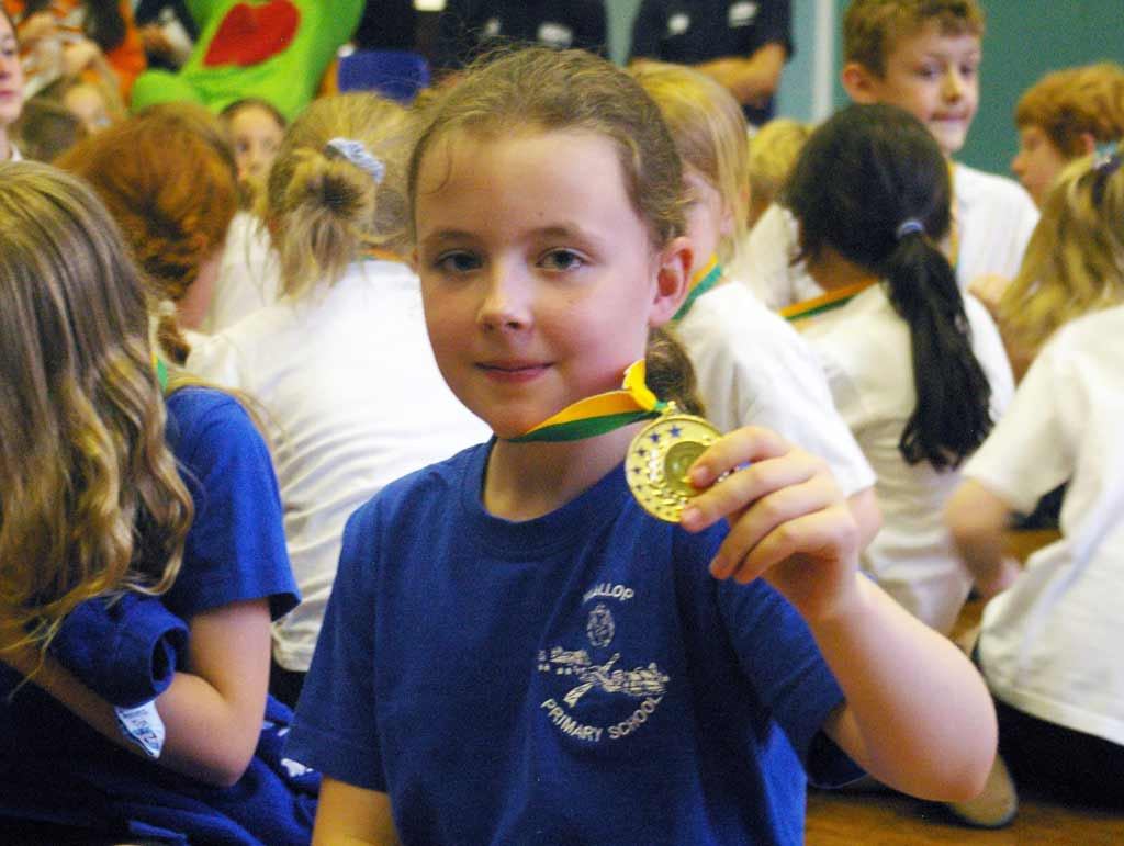 Wallop pupil so proud of her medal
