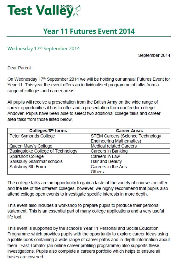 Year 11 Futures Event 2014