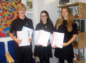 Sports Leaders 'Excel' -- Ben Reed, Erin Phillips and Holly Deere