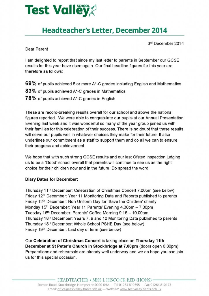 Headteacher's Letter December 2014 with PTA_Page_1
