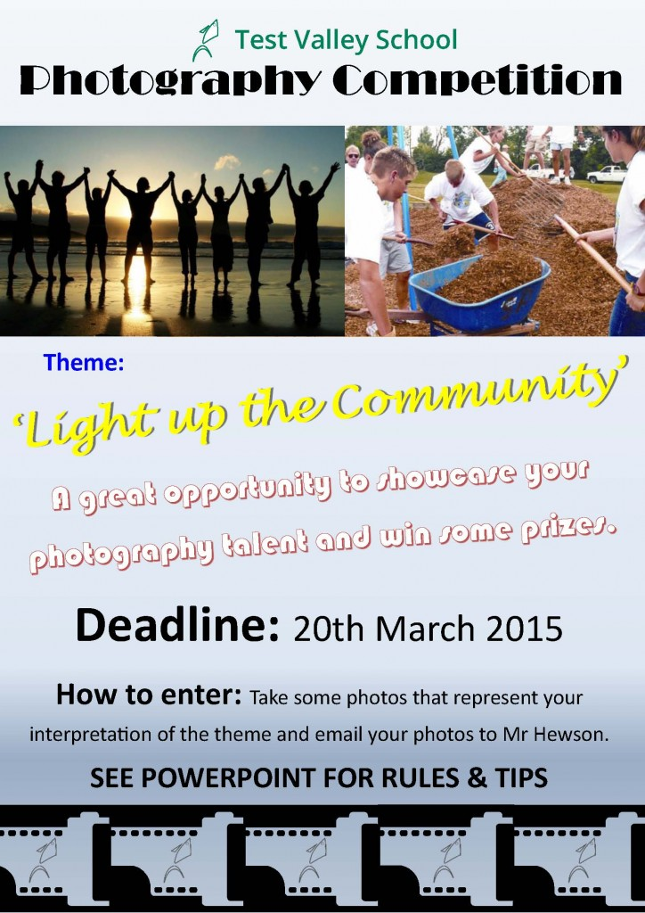 Test Valley School Photography Competition Poster