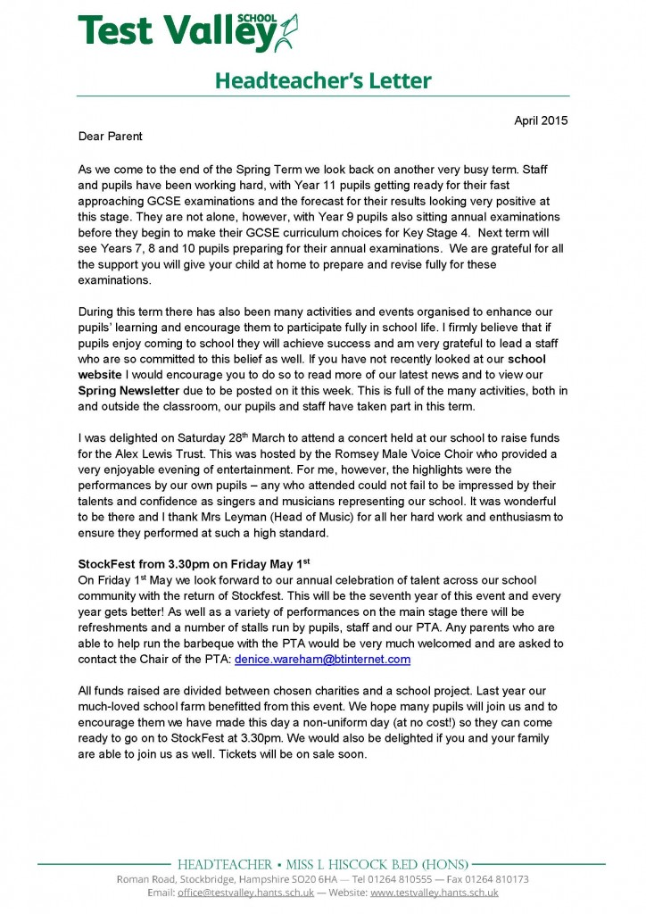 letter to headteacher Study our preschool teacher recommendation letter samples to learn the best way to write your own powerful recommendation letter.