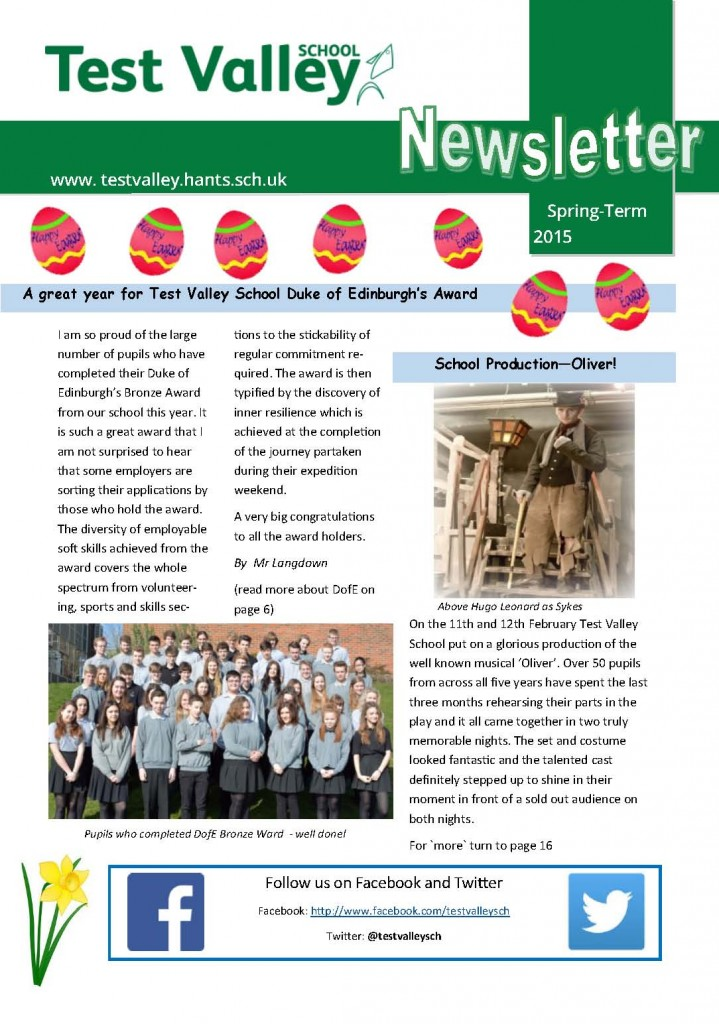 Newsletter Spring Term April 2015