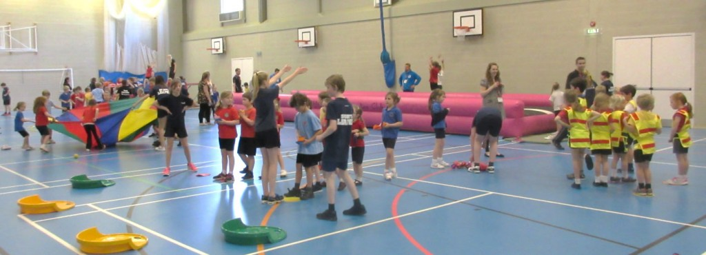 Personal Best education coaching company organised the seven individual activity stations all related to basic movement and multi skills with the help of 20 Test Valley School Young Sports Leaders.