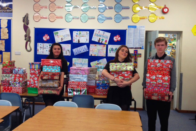 School Responds to Rotary Club Shoebox appeal