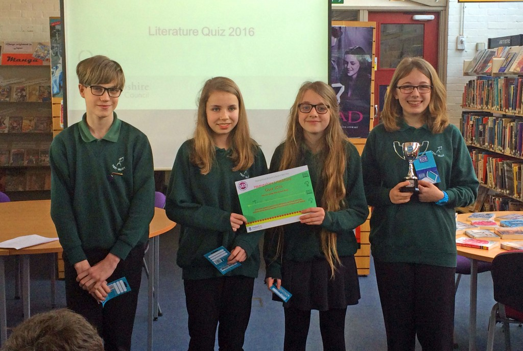 The winning team. From left: Sam Hunt, Hannah Bird, Rose Kane-Smith, Cerys Hotchkiss