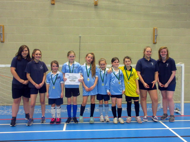 Winners of the KS2 Indoor Girls Football Event, Lockerley