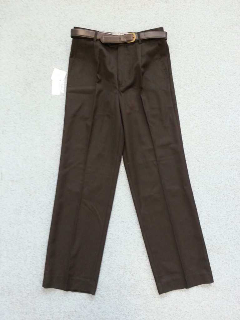 Plain black tailored trousers (straight leg). Skoolkit recommended as supplier of this item. Code ST1 (from £14.99).